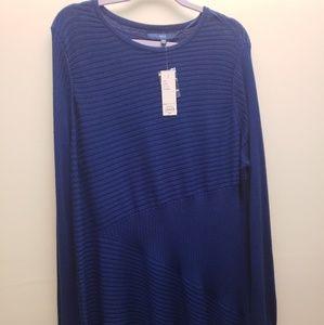 NWT Apt.9 Blue Lightweight Sweater Tunic XXL